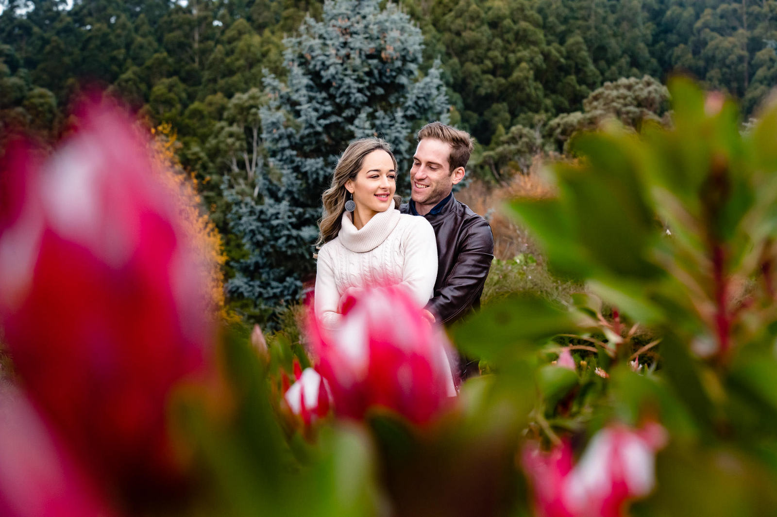 colourful couples photography session taken in the dandenong ranges