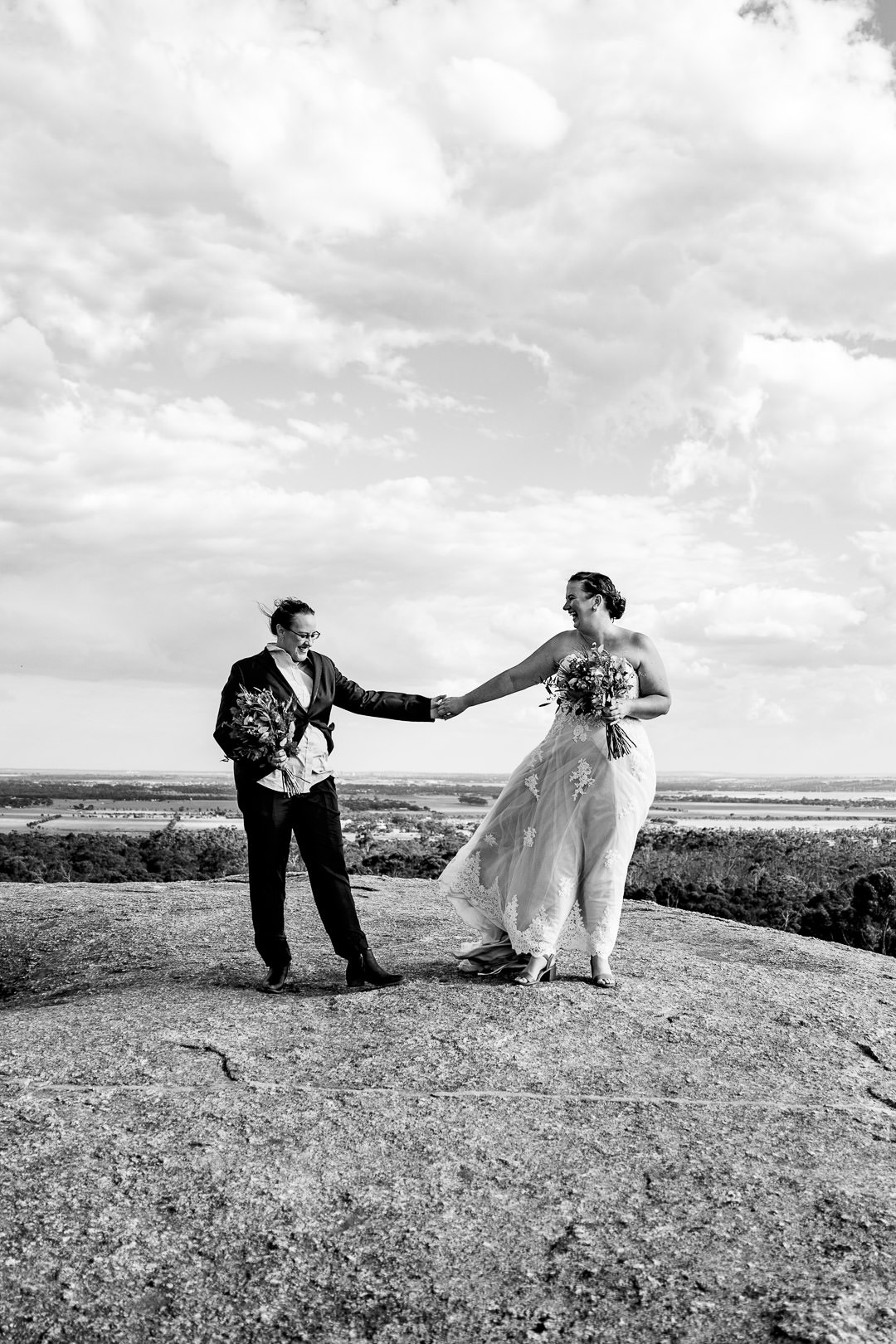 two brides on their wedding day